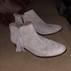 Sam Edelman fringe booties boots shoe heels
